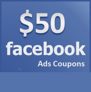 Facebook voucher FACEBOOK COUPON