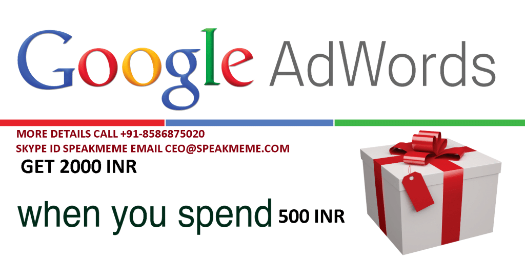 google adwords coupon 1024x508 Google Adwords Coupon For Indian Billing (Spend 500 INR and Get 2000 INR) Expiry Dec 2015