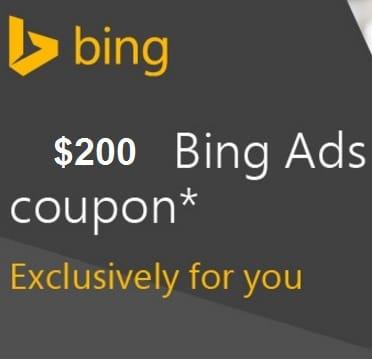 bing coupon $200